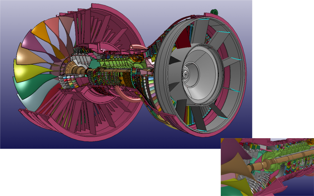 高バイパスターボファンエンジンの安定性解析