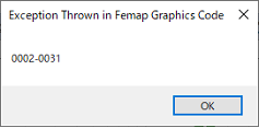 Exception Thrown in Femap Graphics code 0002-0031 対処方法